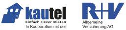 Logo der R+V Versicherung mit Partner Kautel